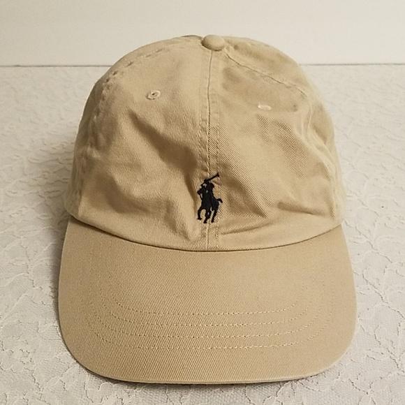 f82113137 Polo Ralph Lauren Tan Baseball Hat Cap